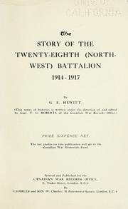 The story of the Twenty-eighth (Northwest) Battalion, 1914-1917 PDF