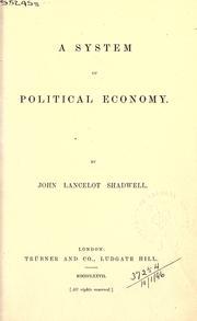 System of political economy PDF