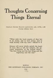 Thoughts concerning things eternal PDF