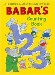 Babar&#39;s counting book by Laurent de Brunhoff