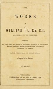The works of William Paley .. by William Paley