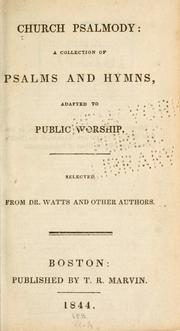 Church psalmody by Mason, Lowell