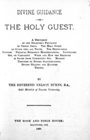 Divine guidance, or, The holy guest PDF
