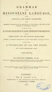 A grammar of the Hindústání language by Forbes, Duncan