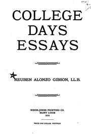 College days essays PDF