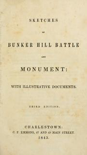 Sketches of Bunker Hill battle and monument by George Edward Ellis