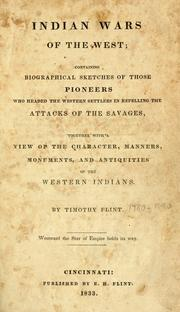 Indian wars of the West by Timothy Flint
