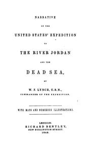 Narrative of the United States' expedition to the river Jordan and the Dead Sea PDF