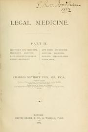 Legal medicine by Charles Meymott Tidy