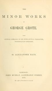 The minor works of George Grote PDF
