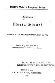 Cover of: Schillers Maria Stuart by Friedrich Schiller