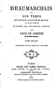 Beaumarchais et son temps by Louis Léonard de Loménie