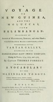 A voyage to New Guinea, and the Moluccas, from Balambangan by Forrest, Thomas