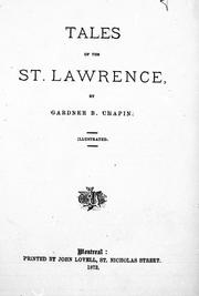 Tales of the St. Lawrence by Gardner B. Chapin