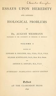 august weismann essays upon heredity