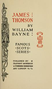 James Thomson by William Bayne