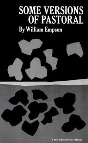 Some versions of pastoral by Empson, William