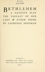 Bethlehem by Laurence Housman