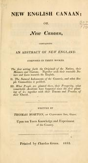 New English Canaan, or, New Canaan by Morton, Thomas