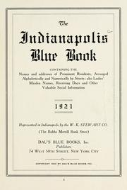 Cover of: The Indianapolis blue book by