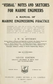 Verbal notes and sketches for marine engineers PDF