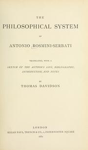 The Philosophical System Of Antonio Rosmini-Serbati by Antonio Rosmini