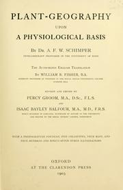 Plant-geography upon a physiological basis by A. F. W. Schimper