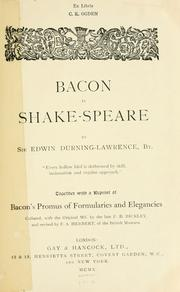 Bacon is Shake-speare by Durning-Lawrence, Edwin Sir