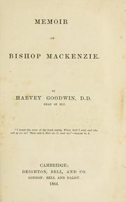 Memoir of Bishop Mackenzie PDF
