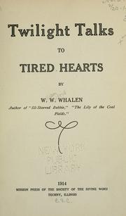 Twilight talks to tired hearts PDF
