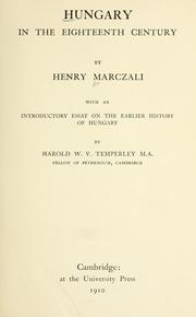 Hungary in the eighteenth century by Marczali, Henrik