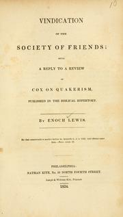 Vindication of the Society of Friends PDF