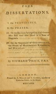 Four dissertations by Price, Richard