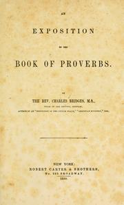 exposition of the Book of Proverbs.