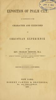 Exposition of Psalm CXIX by Charles Bridges