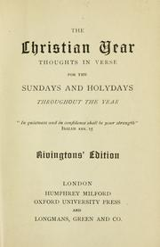Cover of: The Christian year by John Keble