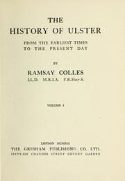 The history of Ulster by Ramsay Colles