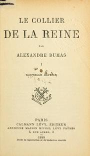 Le collier de la reine by Alexandre Dumas (pre)