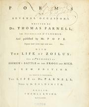 Poems on several occasions by Thomas Parnell