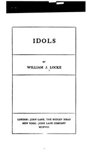 Idols by William John Locke