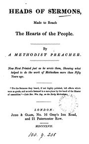 Heads of sermons, made to reach the hearts of the people, by a Methodist preacher PDF