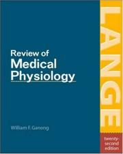 Cover of: Review of Medical Physiology by William F. Ganong