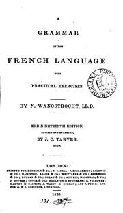 A grammar of the French language PDF