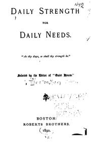 Daily Strength for Daily Needs PDF