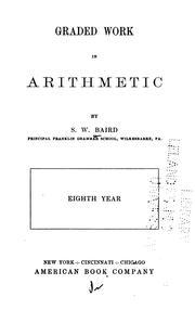 Graded Work in Arithmetic PDF