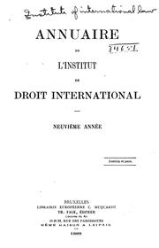 Annuaire de l'Institut de droit international by Institute of International Law