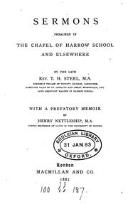 Sermons preached in the chapel of Harrow school and elsewhere, with a prefatory memoir by H .. PDF