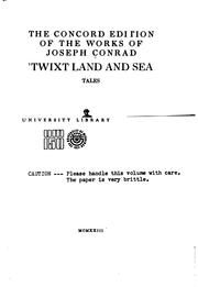 Cover of: &#39;Twixt Land and Sea: Tales by Joseph Conrad