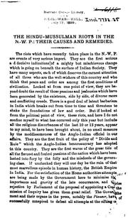 An Appeal to the English Public on Behalf of the Hindus of the N. W.-P. and Oudh PDF