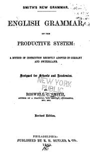 English Grammar on the Productive System: A Method of Instruction Recently Adopted in Germany .. PDF